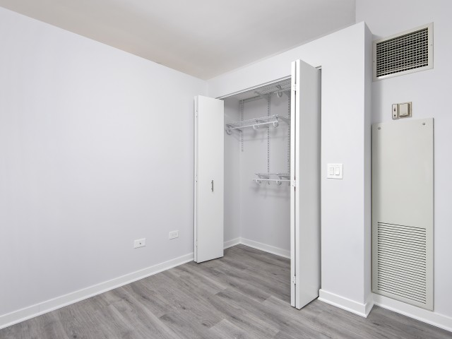 Plank Flooring with Large Closets