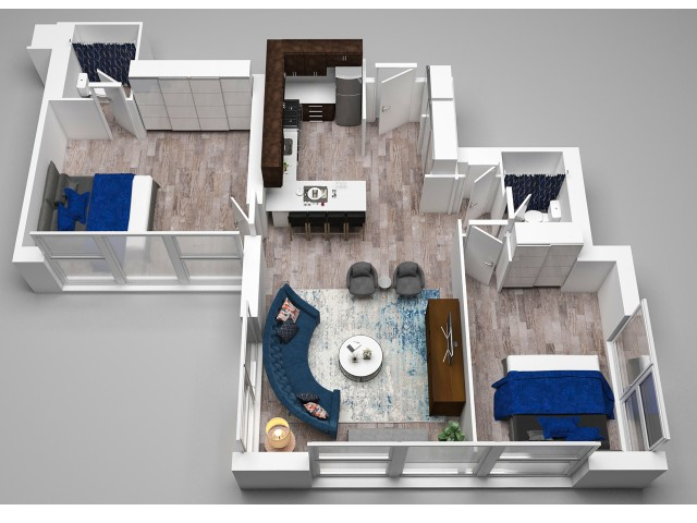 2 Bedroom Floor Plan G
