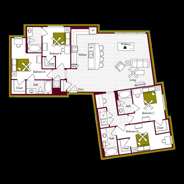 D4 Floor Plan
