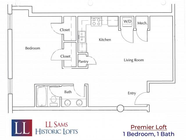 Premier 1-1 Floor Plan