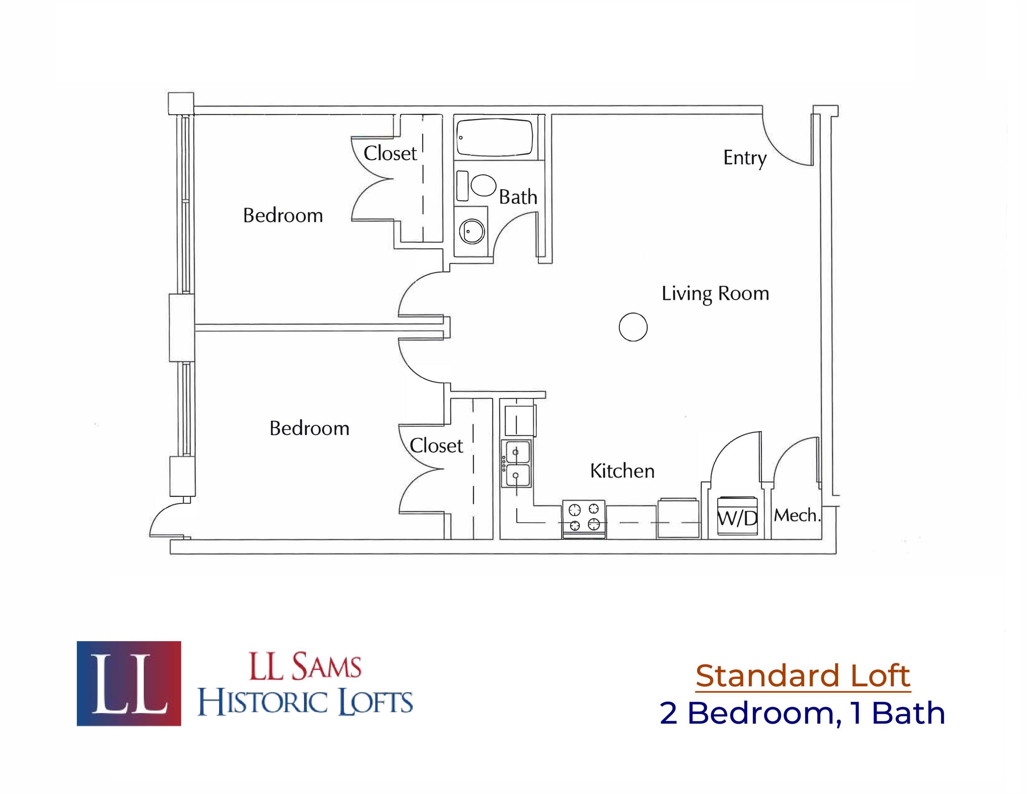 Standard 2-1 Floor Plan
