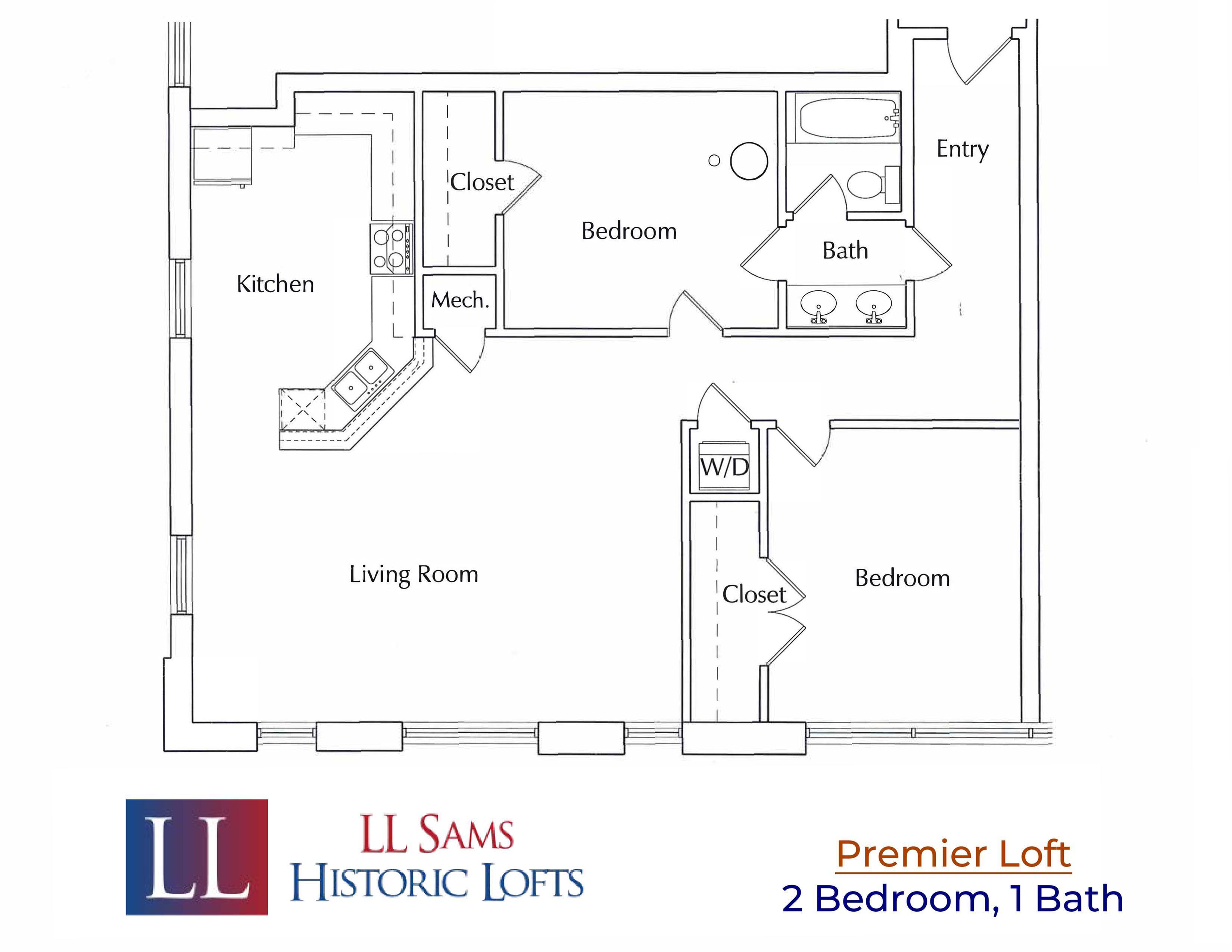 Premier 2-1 Floor Plan