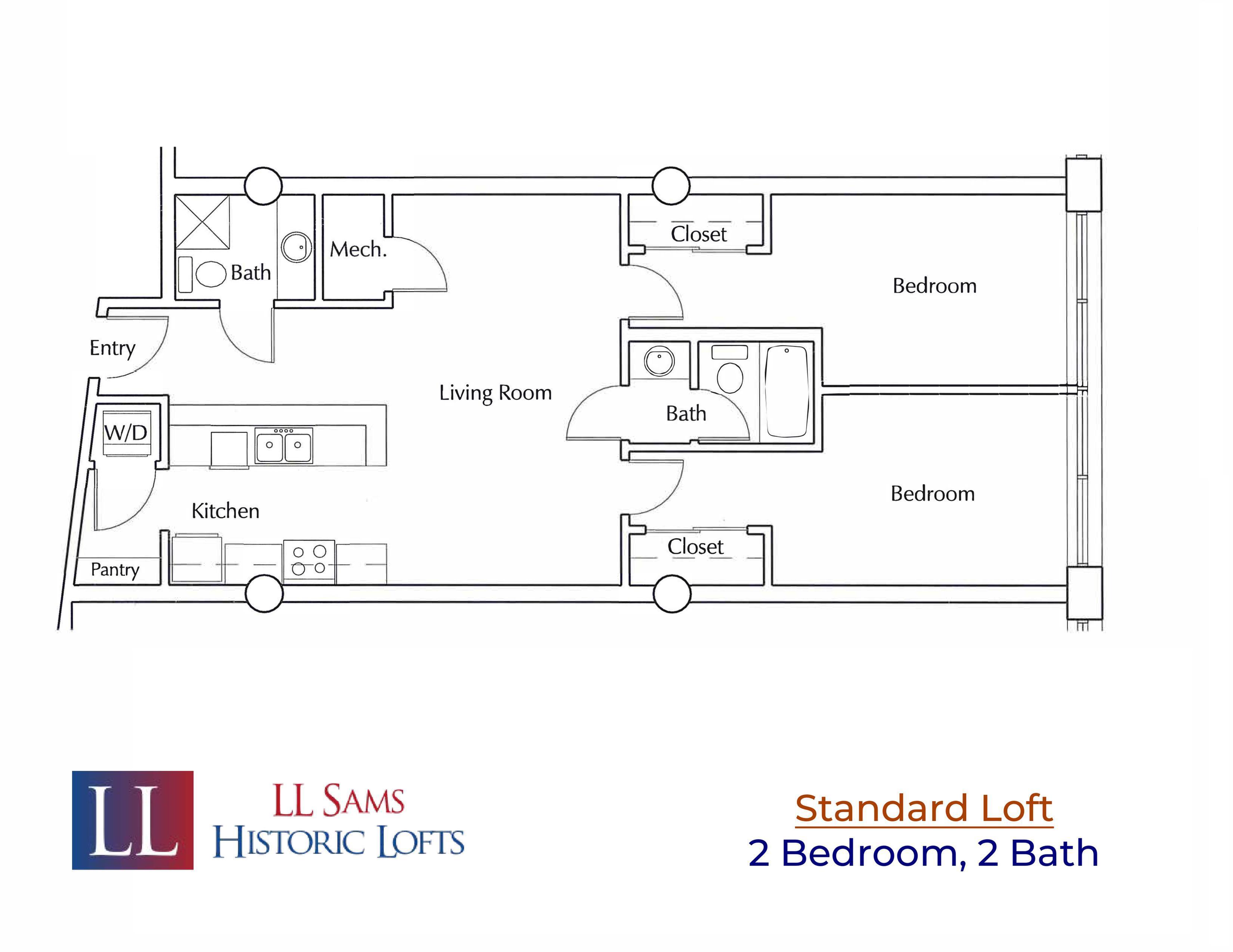 Standard 2-2 Floor Plan