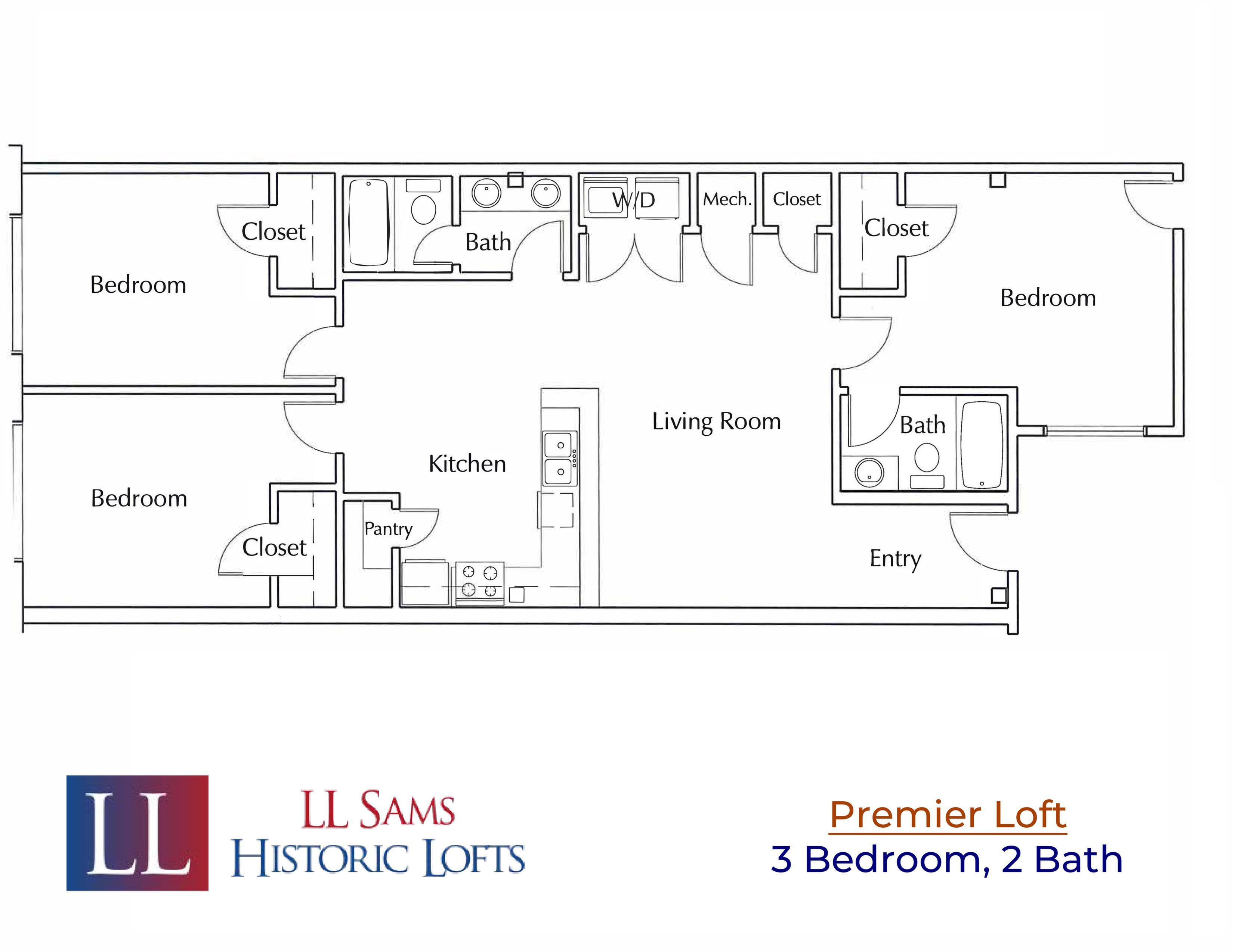 Premier 3-2 Floor Plan