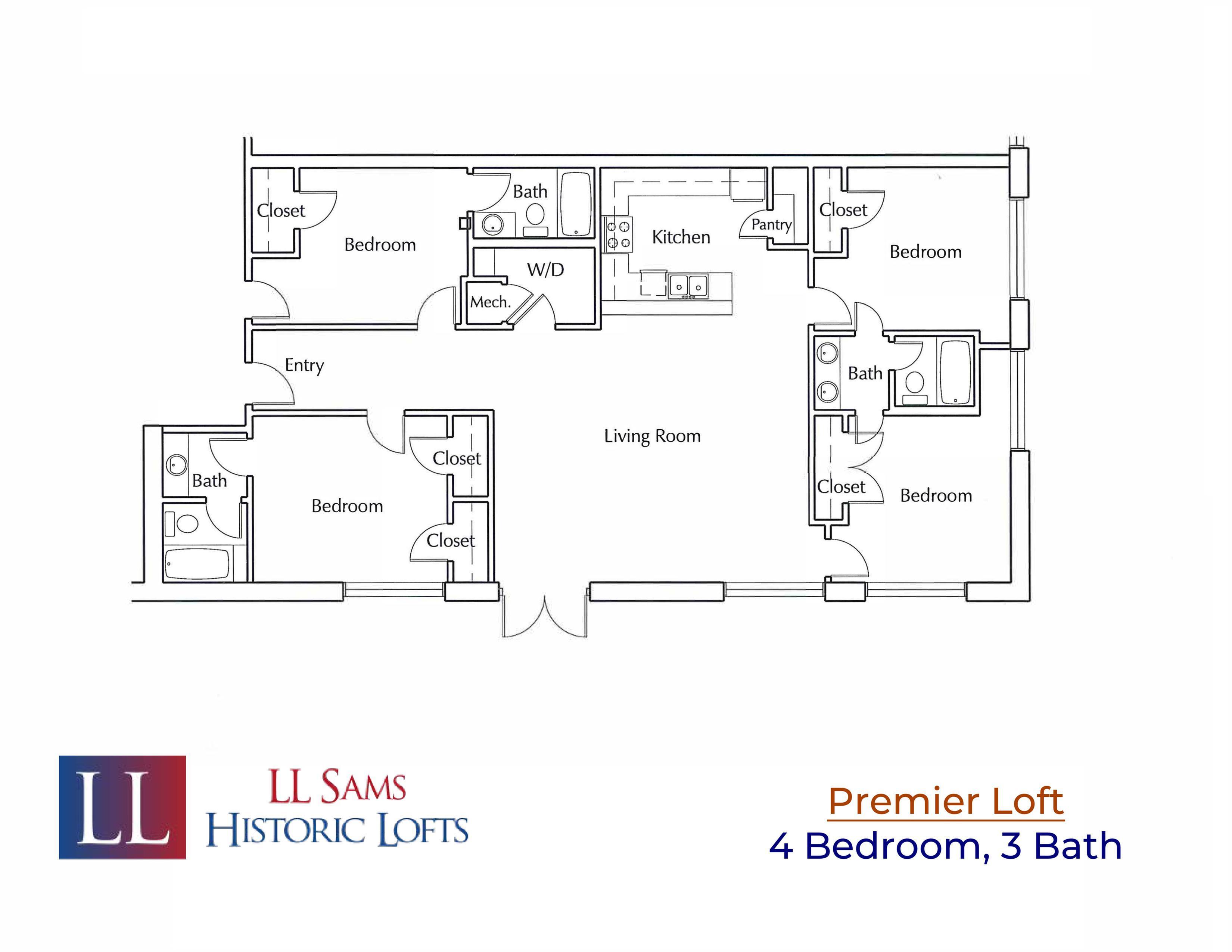 Premier 4-3 Floor Plan