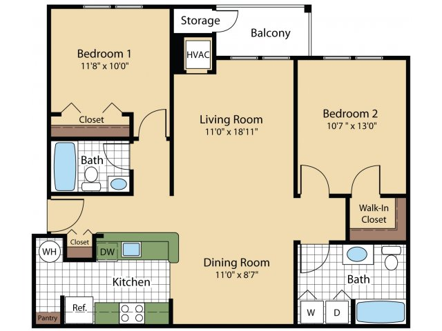 Floor Plan 5 | Apartments Frederick MD | Reserve at Ballenger Creek