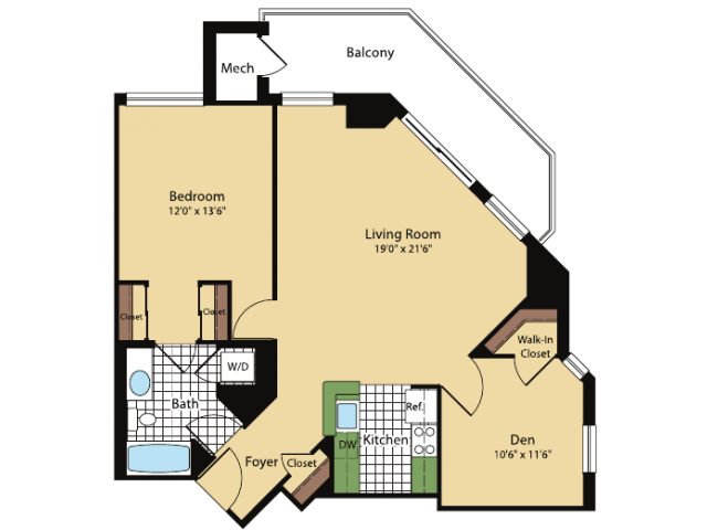 Floor Plan 2 | Meridian at Pentagon City