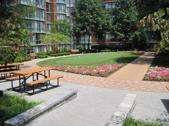 Image of Courtyard with Grilling Area for Meridian at Courthouse Commons