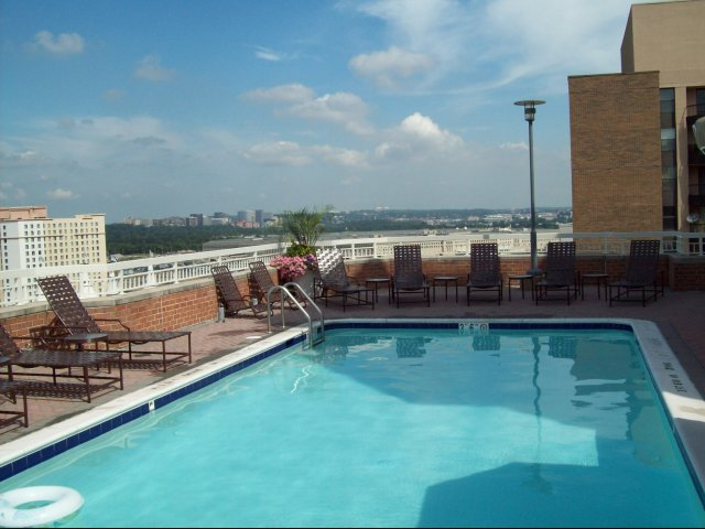 Image of Two Rooftop Pools With Sundeck for Meridian at Pentagon City