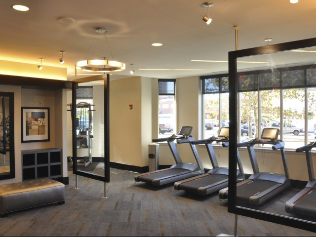Image of Fitness Facility with Cardio Theatre for Meridian at Pentagon City
