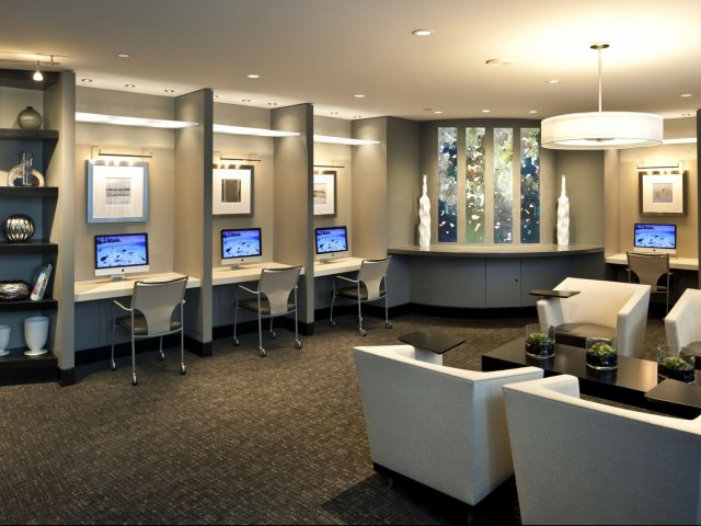 Image of Business Center with Mac Workstations for Meridian at Pentagon City