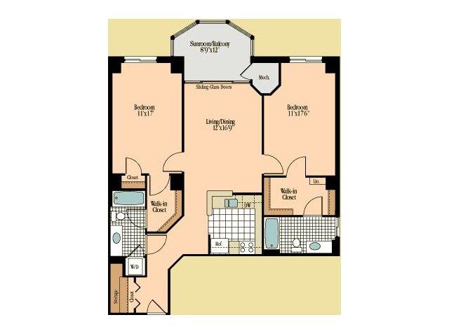 Floor Plan 15 | Meridian at Braddock Station