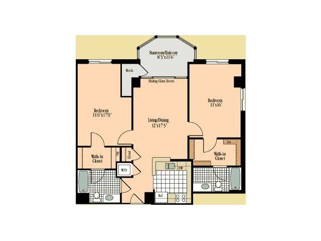 Floor Plan 17 | Meridian at Braddock Station