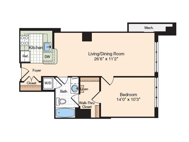 Floor Plan 35 | Old Town Alexandria Apartments | Meridian at Eisenhower Station