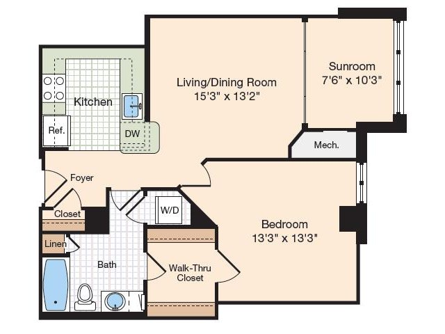 Floor Plan 33 | Old Town Alexandria Apartments | Meridian at Eisenhower Station