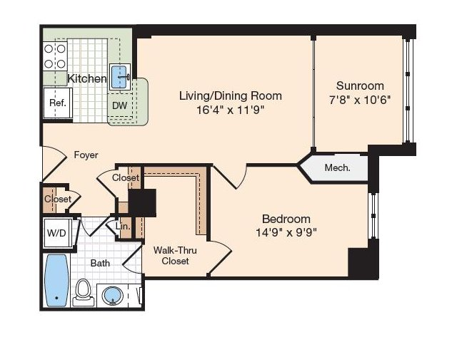 One bedroom apartments in alexandria va meridian at - One bedroom apartments alexandria va ...
