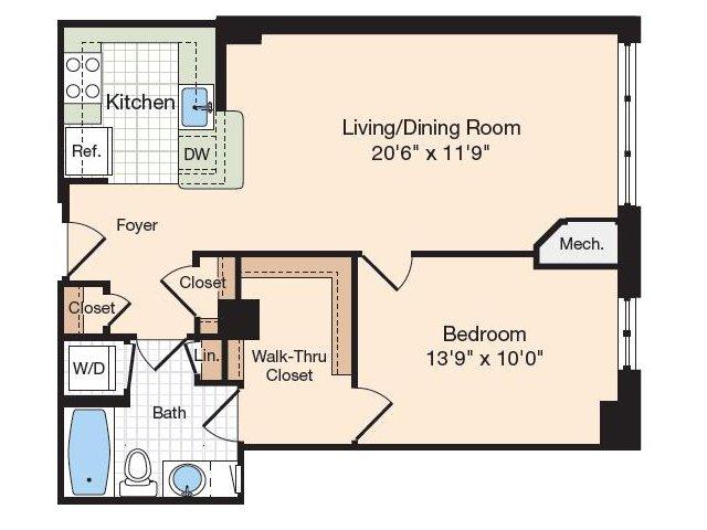Floor Plan 30 | Old Town Alexandria Apartments | Meridian at Eisenhower Station