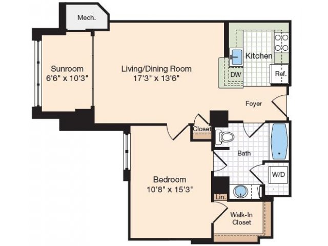 Floor Plan 38 | Old Town Alexandria Apartments | Meridian at Eisenhower Station