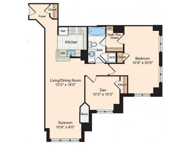 Floor Plan 2 | Apartments In Alexandria| Meridian at Eisenhower Station