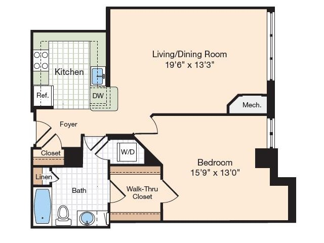 Floor Plan 32 | Old Town Alexandria Apartments | Meridian at Eisenhower Station