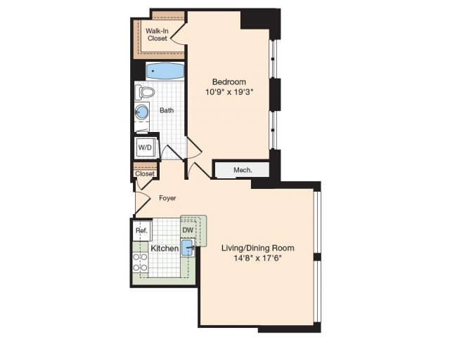 Floor Plan 45 | Old Town Alexandria Apartments | Meridian at Eisenhower Station