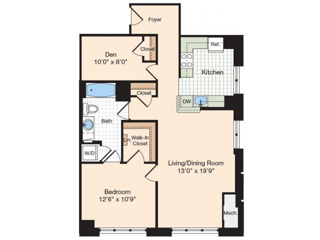 Floor Plan 7 | Apartments In Alexandria VA | Meridian at Eisenhower Station
