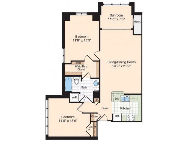 Floor Plan 24 | Old Town Alexandria Apartments | Meridian at Eisenhower Station