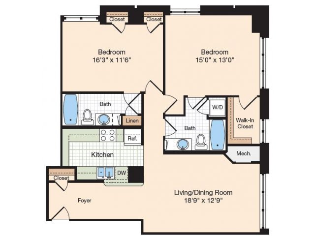 Floor Plan 20 | Old Town Alexandria Apartments | Meridian at Eisenhower Station