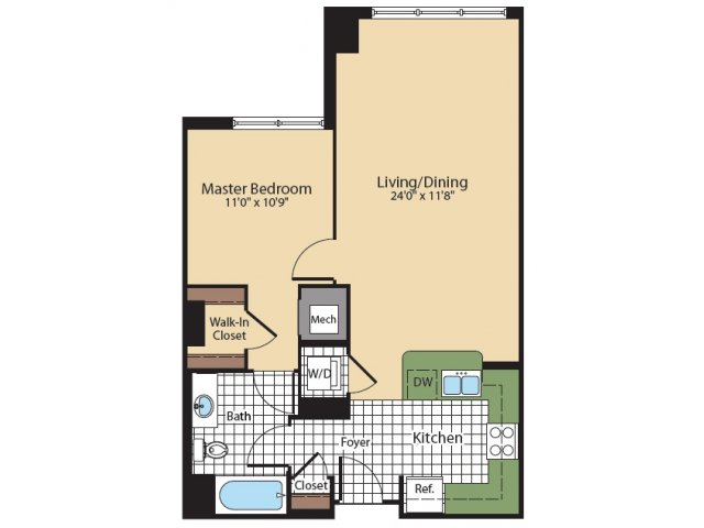 Floor Plan 1 | KW8 | Meridian at Grosvenor Station