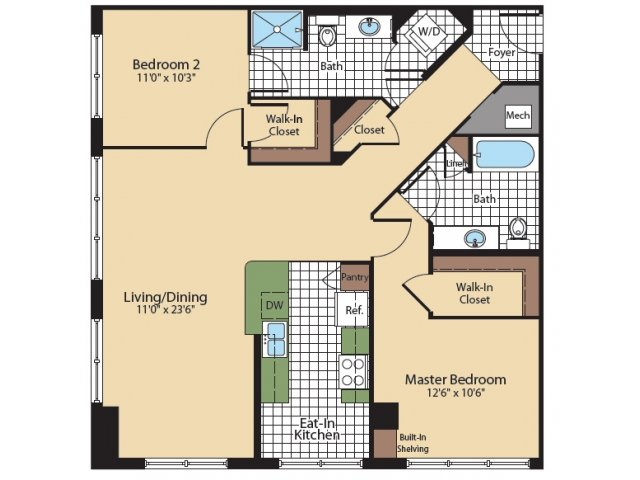 Floor Plan 2 | KW9 | Meridian at Grosvenor Station