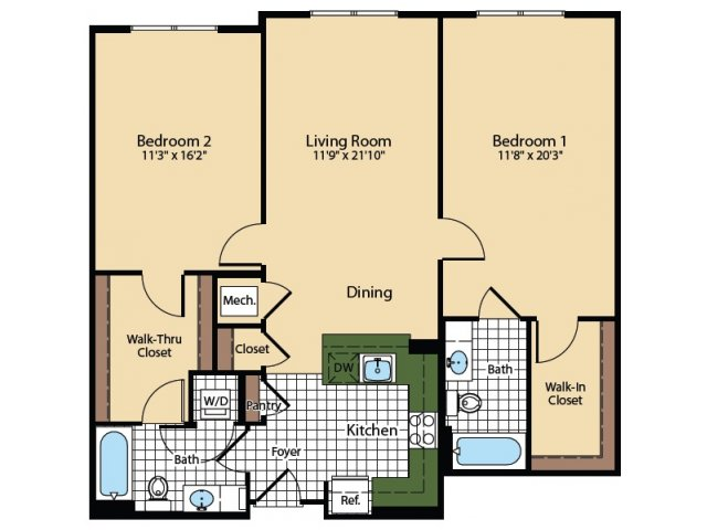 Floor Plan 3 | The Madison at Ballston Station