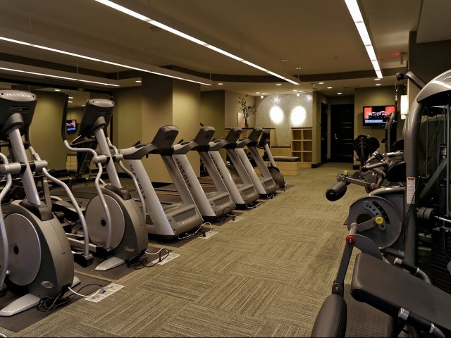 Image of Fitness Center with Cardio Theatre for Meridian at Grosvenor Station
