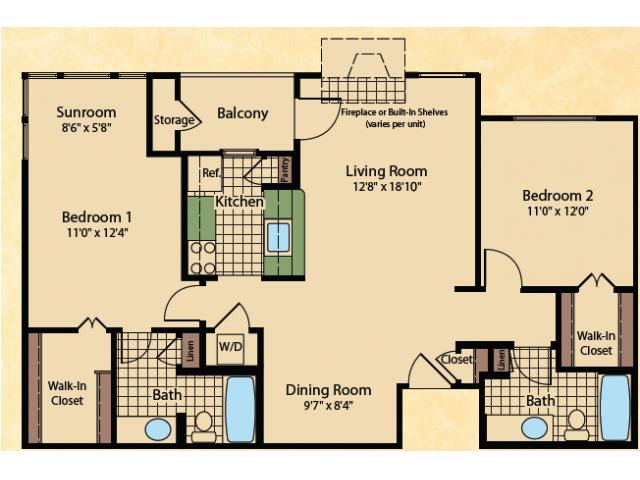 Floor Plan 7 | Apartments In Wayne NJ | Mountain View Crossing