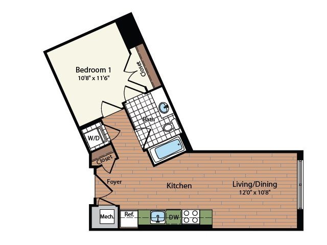 Floor Plan 2 | Meridian at Mt Vernon Triangle