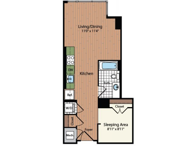 Floor Plan 1 | Meridian at Mt Vernon Triangle