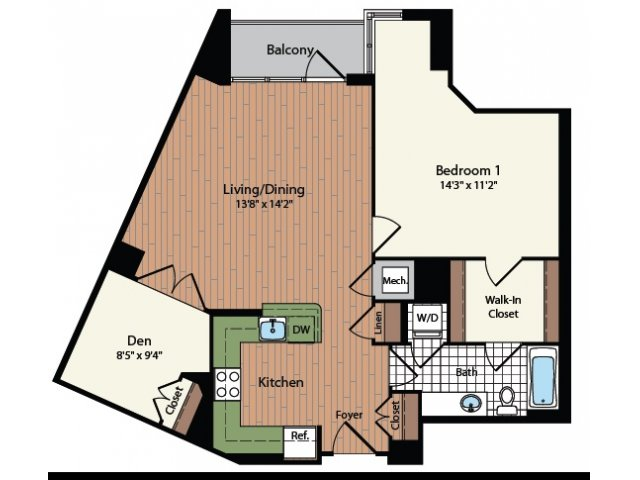Floor Plan 20 | Meridian at Mt Vernon Triangle