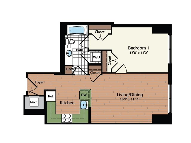 Floor Plan 17 | Meridian at Mt Vernon Triangle