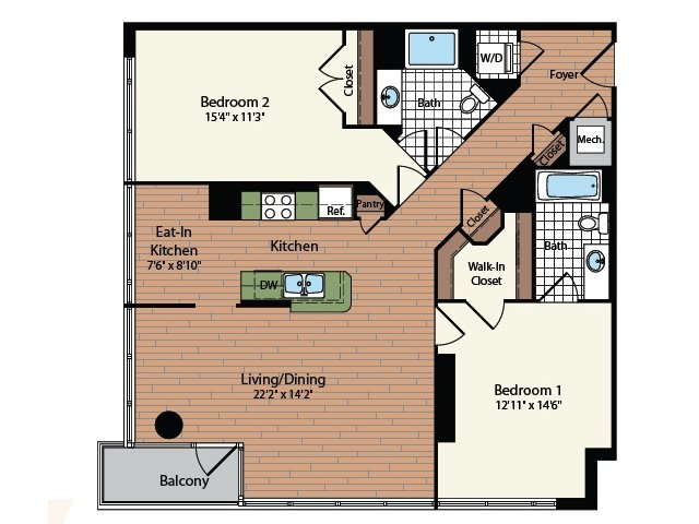 Floor Plan 21 | Meridian at Mt Vernon Triangle
