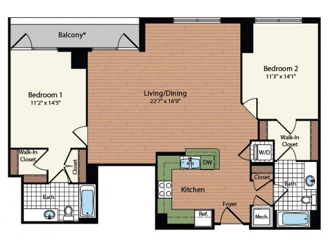 Floor Plan 27 | Meridian at Mt Vernon Triangle