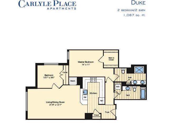 48 Bed 48 Bath Apartment In Alexandria VA Carlyle Place Magnificent 2 Bedroom Apartments In Alexandria Va