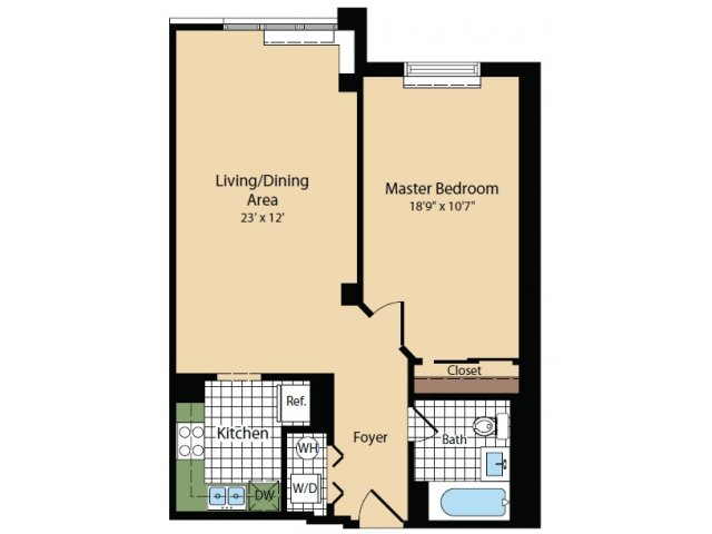 Floor Plan 1 | Apartments For Rent In North Bergen NJ | Half Moon Harbour Apartments