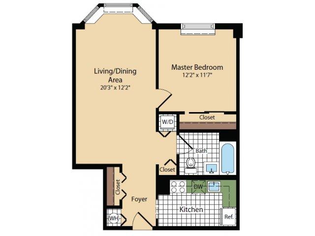 Floor Plan 2 | Apartments For Rent In North Bergen NJ | Half Moon Harbour Apartments