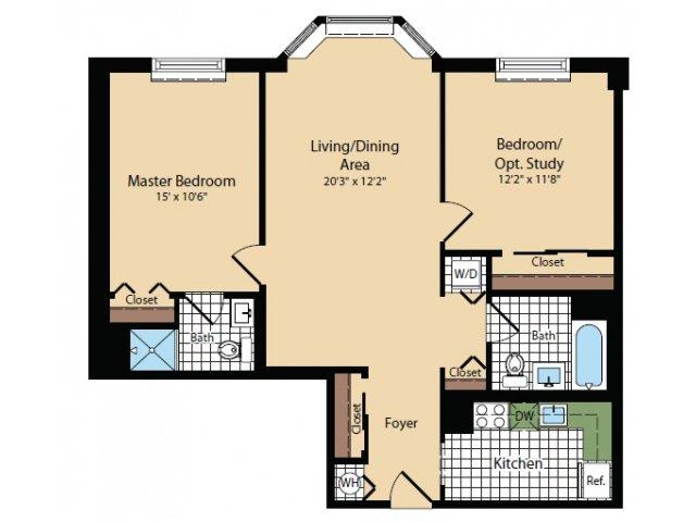 Floor Plan 3 | Apartments For Rent In North Bergen NJ | Half Moon Harbour Apartments