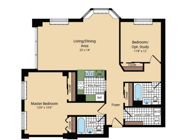 Floor Plan 8 | Apartments For Rent In North Bergen NJ | Half Moon Harbour Apartments