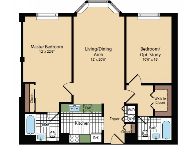 Floor Plan 10 | Apartments For Rent In North Bergen NJ | Half Moon Harbour Apartments