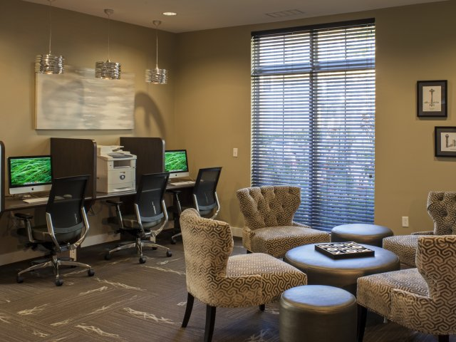 Image of Business center with iMac computers for Reserve at Ballenger Creek