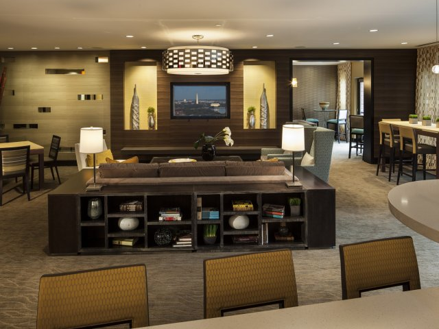 Image of Clubroom with gaming area and WiFi for The Madison at Ballston Station