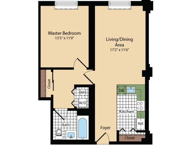 Floor Plan 12 | Apartments For Rent In North Bergen NJ | Half Moon Harbour Apartments