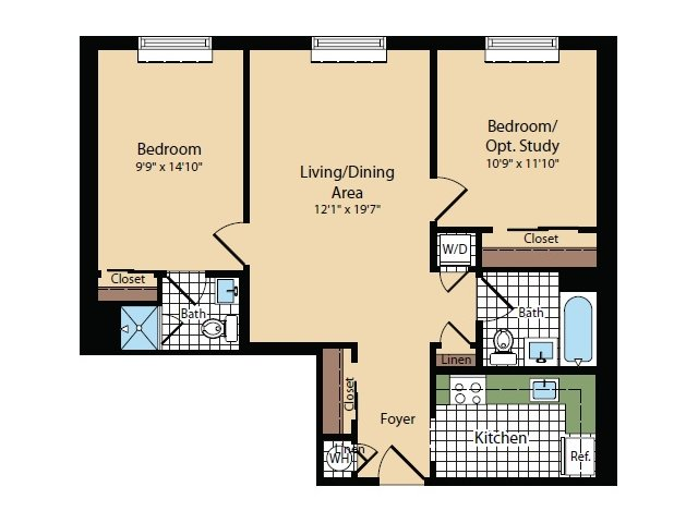 Floor Plan 13 | Apartments For Rent In North Bergen NJ | Half Moon Harbour Apartments