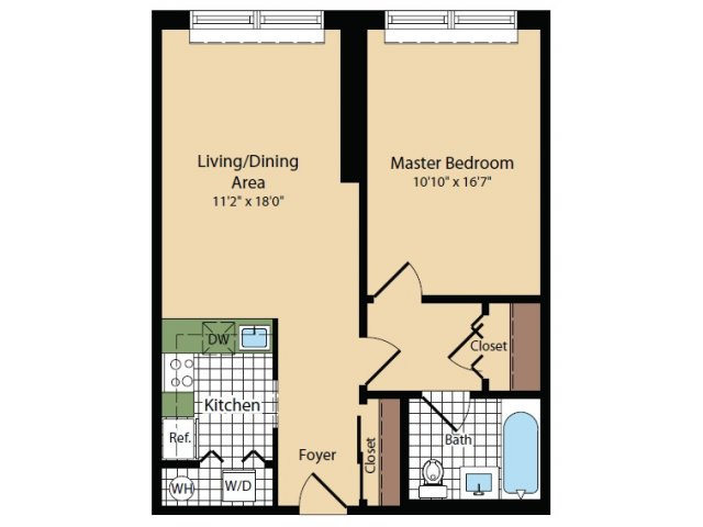 Floor Plan 16 | Apartments For Rent In North Bergen NJ | Half Moon Harbour Apartments